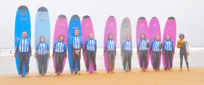 Русская школа серфинга в Марокко